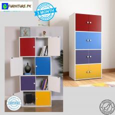 Colorful Book Shelf Storage Rack Living Room Shelves Books Furniture Children...