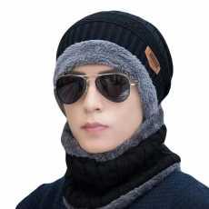 Mughaliya Beanie Warm Cap and Neck Scarf for Winter Men Women Unisex Gift
