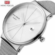 Mughaliya MINI FOCUS F0176G White Fashion Business Unisex Watches Stainless...