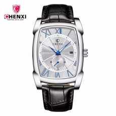 Mughaliya CHENXI CX0639 Brand Vintage Men Watch Genuine Leather Straps Roman...