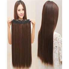 Natural Brown 27 Inch Hair Extension Wig Fashion Long Straight Full Hair - 5...