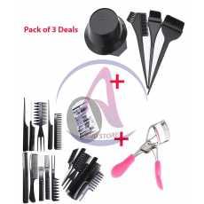 Pack of 3 Women Professional Eyelash Curlers + New Hairdressing Salon Hair...