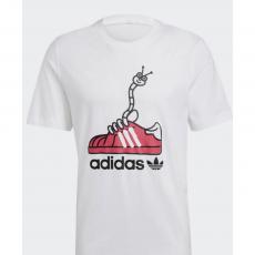 White-Adidas Worm Shoe