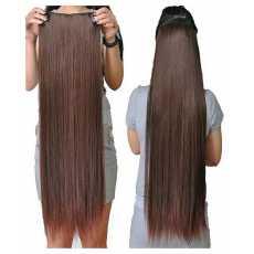 Natural Brown Hair Extension Wig Fashion Long Straight Full Hair - 5 Clips -...
