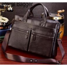 Royal Bagger 14-inch Laptop Briefcase For Men Genuine Cow Leather Handbag...
