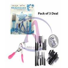 Pack of 3 Women Professional Eyelash Curlers + 10 piece Professional Black...