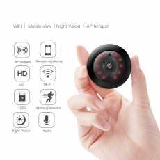 720P Mini Ip Wifi Camera Wireless Hd 180° Hidden Home Security Cam Night...