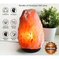 Natural Salt Lamps Release Negative Ion Purifying Air Pink Crystal Rock...