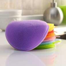 Multi-Functional Silicone Dish Sponges Non Stick Dishwashing Brush, Double...