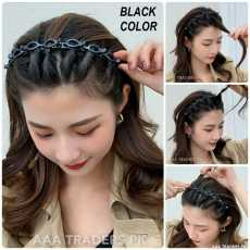 Double Layer Twist Plait Headband Hair Tools Bangs Hairstyle Hairpin...