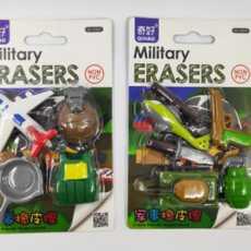Erasers in Militiary Design 1 set