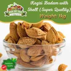 Kagzi Almonds With Soft Shell  Nuts Badaam Kaghazi  Kaghzi 1kg