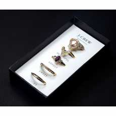 Pack Of 5 Gold Plated Rings Set