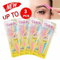 Tinkle Eyebrow Razor 3 Pack, Eyebrow Face Hair Removal & Shaper (3 Pieces)