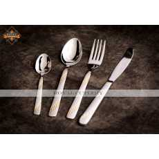 6 Persons Cutlery Set Partially Gold Plated (Premium)