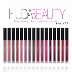 Huda beauty Pack of 12 Lipsticks Set Makeup set For Girls Lipstick set