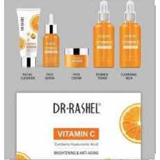 Dr.Rashel vitamin C brightening & anti-aging skin care series 5 piece set