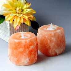 Himalayan Salt Natural Candle Holder Dark Pink Color Best for Party Gifts