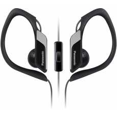 Panasonic Sports Clip Earbud Headphones with Mic/Controller RP-HS34M-K