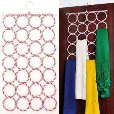 28 Holes Scarf Hanger Multi Scarves Hang Ties Belt Circle Storage hanger