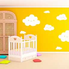 White Clouds Wall Stickers Baby Wallpaper Home Decor For Kids Room Decorative...