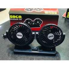 SOGO Car Dashboard Dual Fans 360 Degree Rotation 12V