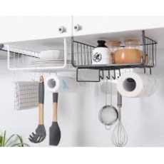 Kitchen Iron Storage Shelf Cupboard Hanging Under Shelf Desk Under Rack Wire...