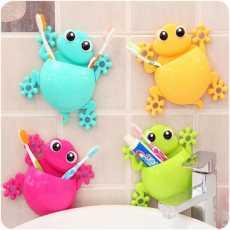3D Cartoon Animal Cute Toothbrush Holder Suction Cup Bathroom Wall...