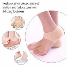 Gel Heel Sleeve Breathable Foot Care Heel Protectors 1 pair