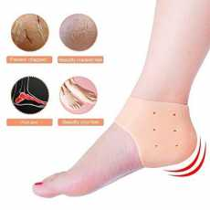 SOFT QUALITY SILICONE ANTI CRACK HEEL SET IN FRESH STOCK DURABLE   6 PAIR SET