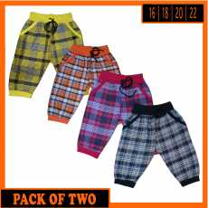 Kids Checked Trousers for Boys - Pack of 2