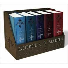 A Song Of Ice And Fire - Complete Original Novel Series (5 Books Leather Box...