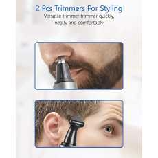 RECHARGABLE NOSE & EAR TRIMMER FOR MEN & WOMEN BLACK DARK GOLD COLOUR