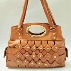 Ladies Bag ; Shoulder Bag having 2 zip compartments ;Purse ; Hand Bag
