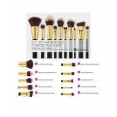 BH Cosmetics Sculpt and Blend 2 10 Pieces Brush Set Black & Golden
