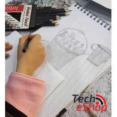 12Pcs Pencils set Professional Sketch and Drawing Writing Pencil 2B 3B 4B 5B...