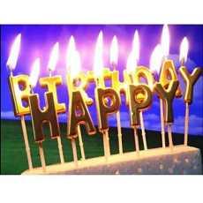 Happy Birthday Golden Candles