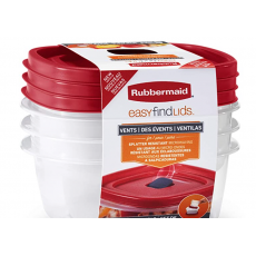Storage and Organization Containers, 4-Pack, Racer Red