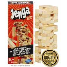 Jenga Game original  Wooden Stacking Blocks Educational Toys Kids Interaction...