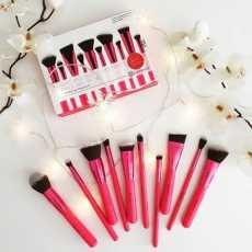 BH Cosmetics Sculpt and Blend Fan Faves 10 piece brush set Pink Colour