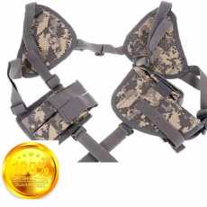 nylon cover shoulder holster universal 2 in one magazine plush double...
