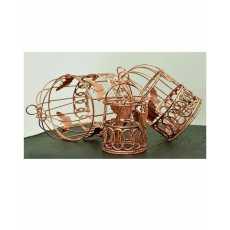 Pack of 03 -Copper color birdcages hanging birdcages decoration