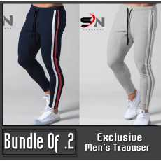 Pack Of 2 Strip Style Trousers For Men