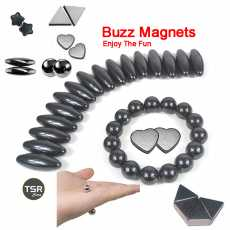 Buzz Magnets | Pack of 60 magnet pieces | Singing Buzzing Rattle Snake Magnet...