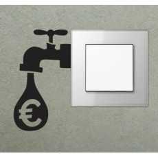 Water tab switchboard wall sticker switch board stickers watertab funny black...