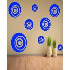 Multiple Colourfull Circle wall circle Stickers wall decoration circles black...