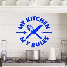 My kitchen My Rules Kitchen Wall decoration sticker for girls Stickers