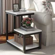 Modern End Tables, 3-Tier Chair Side Table Night Stand With Storage Shelf For...