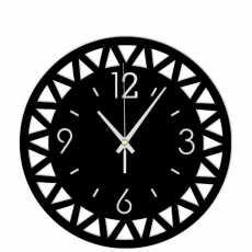 3D modern circular clock-modern 18 inches wooden circular clock-modern clock...