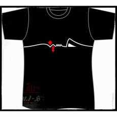 T Shirt Cotton Print Name Hussain Calligraphy Men Black Slim Fit Sleeve - Black